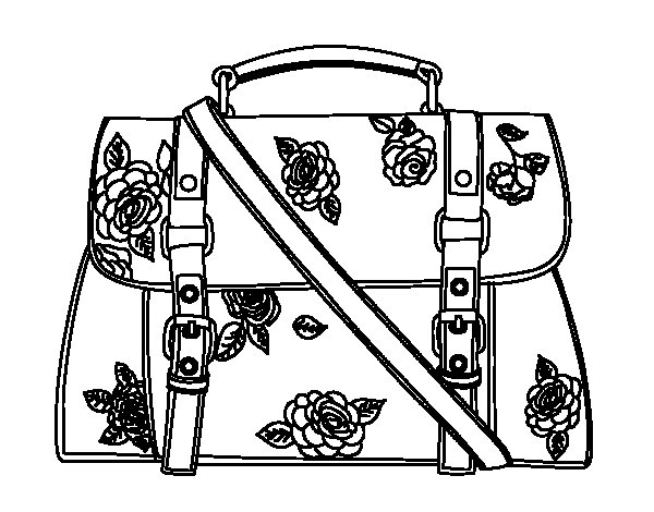 Desenho de Saco florido para Colorir