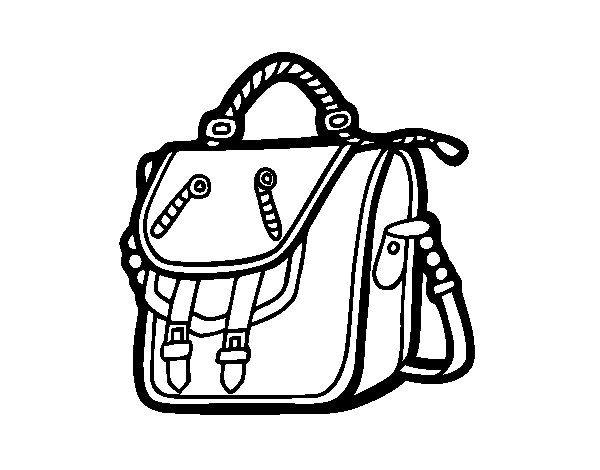 Desenho de Saco mochila para Colorir
