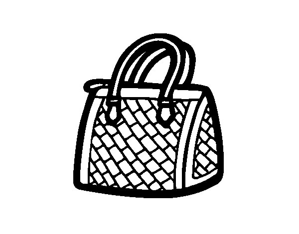 Desenho de Saco texturizado para Colorir