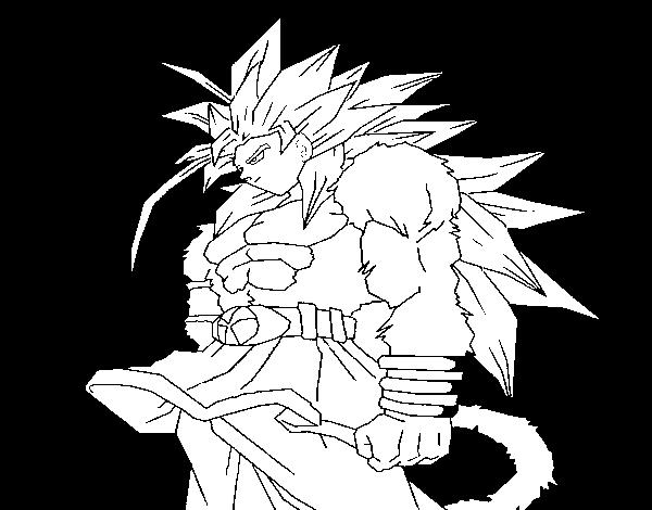 Desenho De Saiyan Para Colorir: Desenho De Saiyan Para Colorir