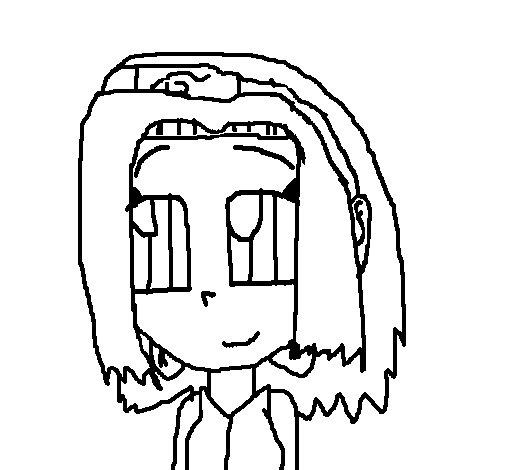 Desenho de Sakura 1 para Colorir