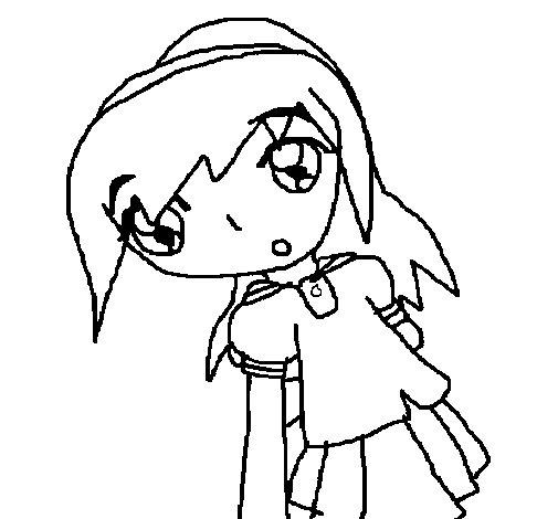 Desenho de Sakura para Colorir