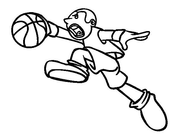Desenho de Salto de basquete para Colorir