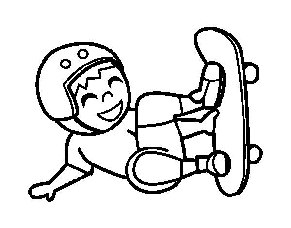 Desenho De Salto Do Skate Para Colorir