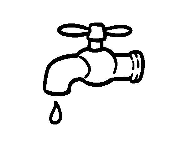 Desenho de Salvar a água para Colorir
