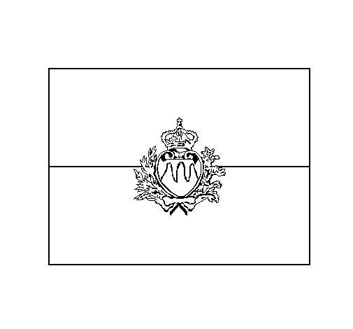 Desenho de San Marino para Colorir