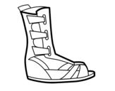 Desenho de Sandália romana para colorear