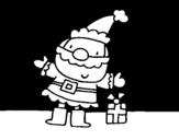 Desenho de Santa 2 para colorear