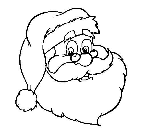 Desenho de Santa claus para Colorir