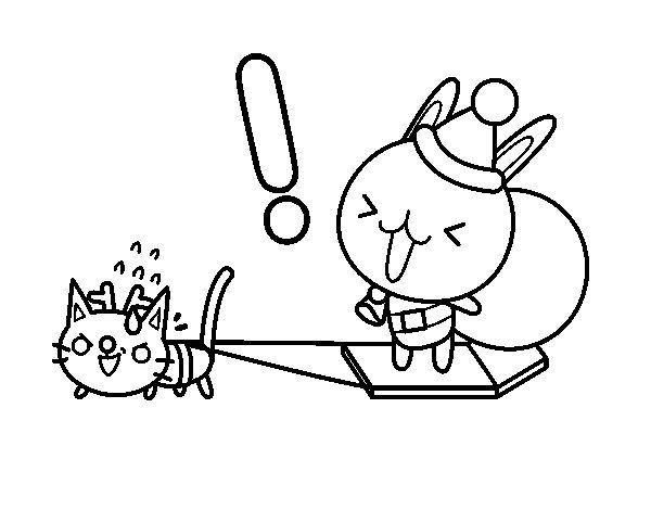 Desenho de Santa coelho para Colorir