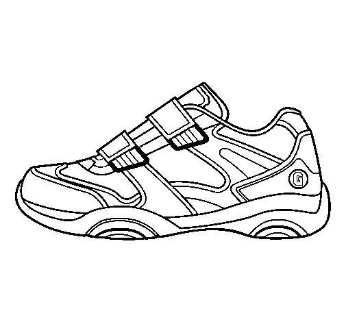 Desenho de Sapato de ginástica para Colorir
