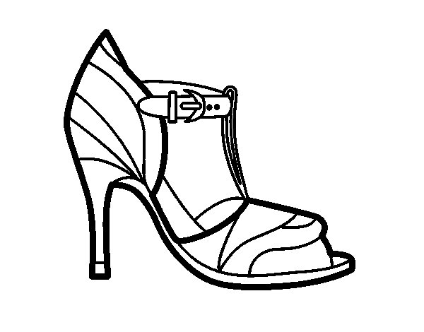 Desenho de Sapato de salto alto com dica descoberta para Colorir