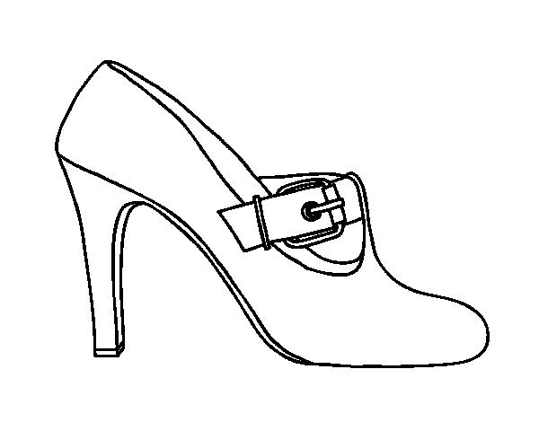 Desenho de Sapatos elegantes para Colorir