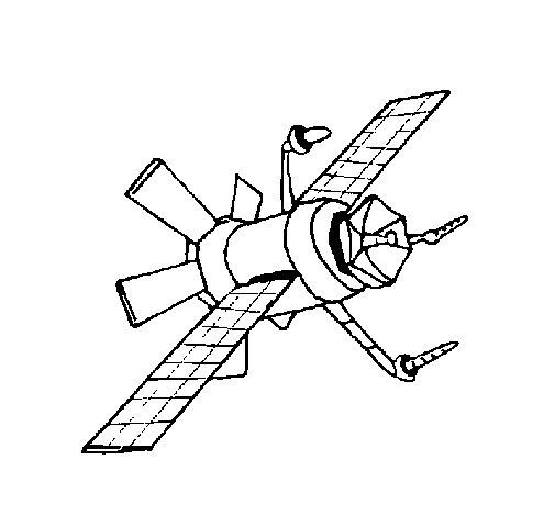 Desenho de Satélite para Colorir