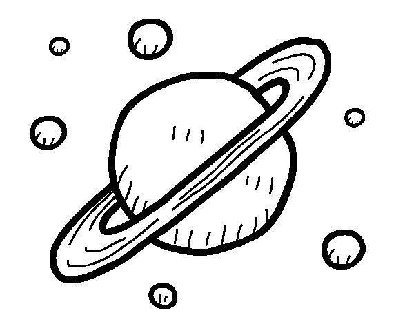 Desenho de Satélites de Saturno para Colorir
