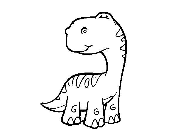 Desenho de Saurópode para Colorir
