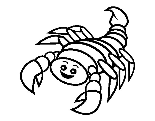 Desenho de Scorpius feliz para Colorir