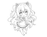 Desenho de SeeU Chibi Vocaloid para colorear