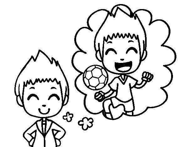 Desenho de Ser um jogador de futebol para Colorir