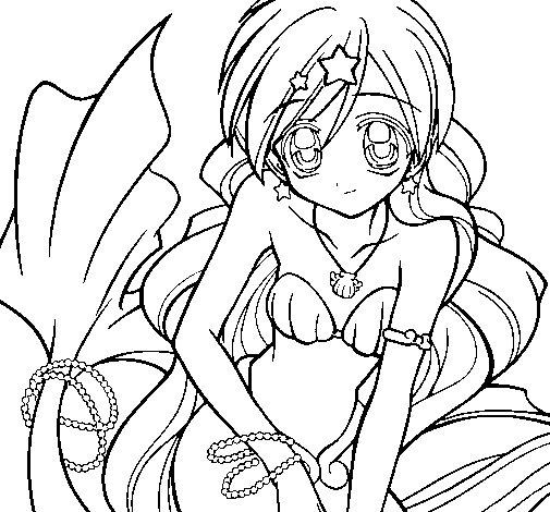 Desenho de Sereia 3 para Colorir - Colorir.com
