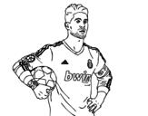 Desenho de Sergio Ramos do Real Madrid para colorear