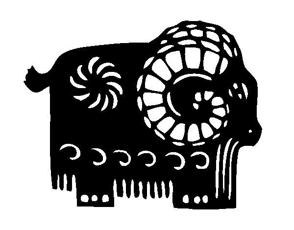 Desenho de Signo da cabra para Colorir