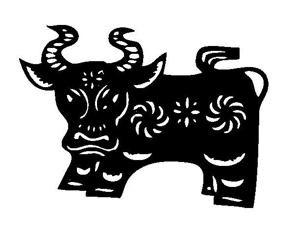 Desenho de Signo do boi para Colorir