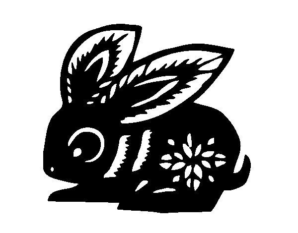 Desenho de Signo do coelho para Colorir