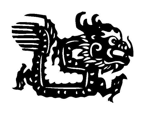 Desenho de Signo do dragão para Colorir