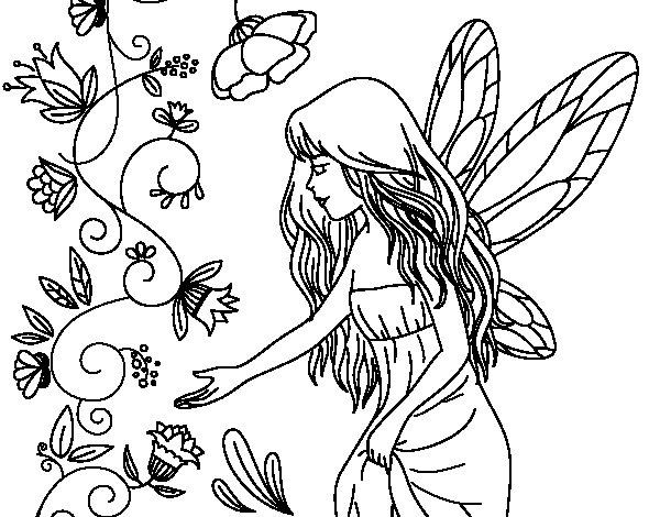 Desenho de Silfo para Colorir