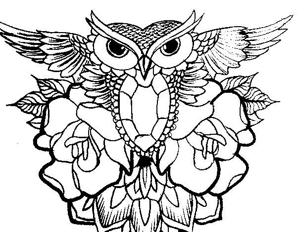 Desenho de Símbolo coruja para Colorir