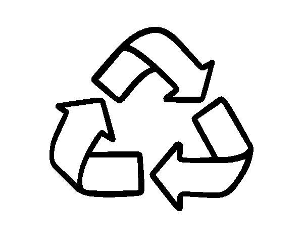 Desenho de Símbolo de reciclagem para Colorir