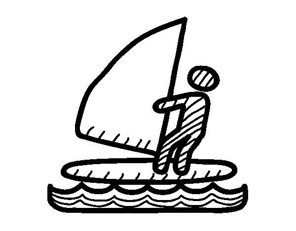 Desenho de Sinais de windsurf para Colorir