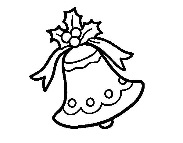 Desenho de Sino natalino para Colorir