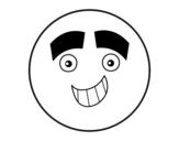 Desenho de Smiley com grandes sobrancelhas para colorear