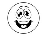 Desenho de Smiley engraçado  para colorear