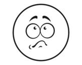 Desenho de Smiley envergonhado para colorear
