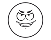 Desenho de Smiley malvado  para colorear
