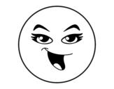 Desenho de Smiley menina para colorear