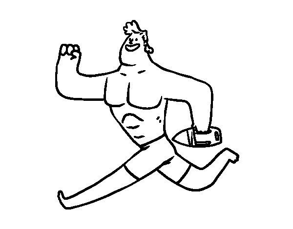 Desenho de Socorrista running para Colorir