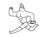 Desenho de Socorrista running para colorear
