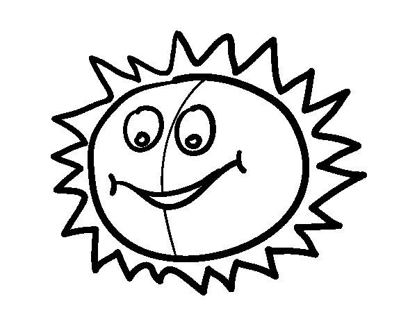 Desenho de Sol feliz para Colorir