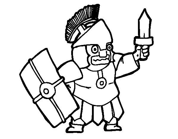 Desenho de Soldado assustado para Colorir