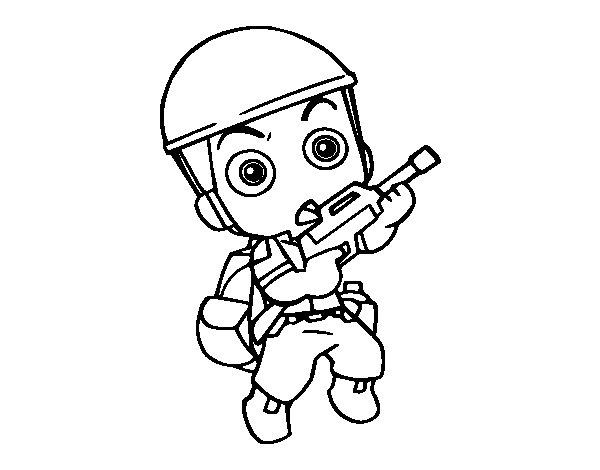 Desenho de Soldado militar para Colorir