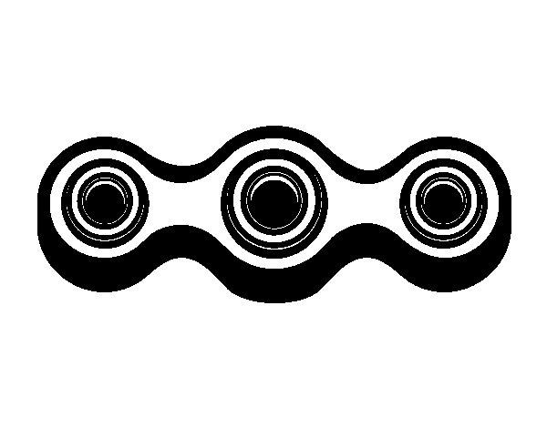 Desenho de Spinner linear para Colorir