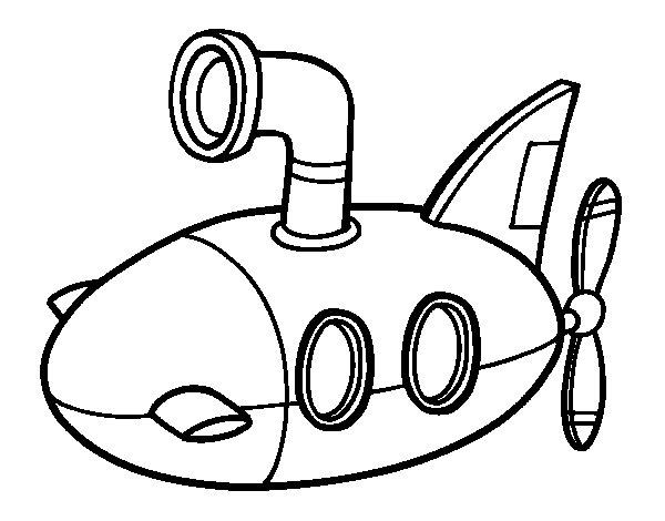 Desenho de Submarino para Colorir