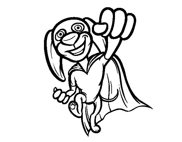 Desenho de Super-cão para Colorir