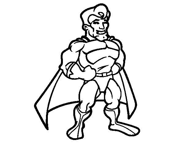 Desenho de Super-herói musculoso para Colorir