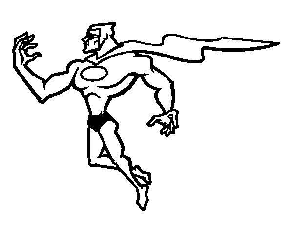 Desenho De Super Herói Poderoso Para Colorir
