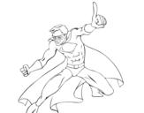 Desenho de Super menino para colorear